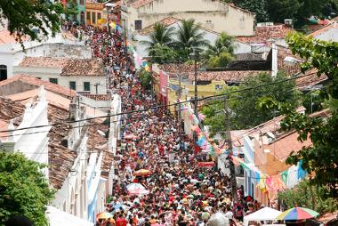 Cena do carnaval em Olinda, Pernambuco.*