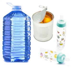 Aplicações do Bisfenol A em mamadeiras, garrafões de água e latas de alimentos