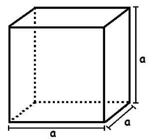 Para calcular o volume do cubo, devemos multiplicar a medida da aresta elevada à terceira potência