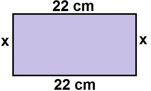 Representação de retângulo para cálculo de perímetro