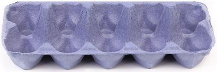 A base da caixa de uma dúzia de ovos pode ser utilizada como tabuleiro para o Mancala