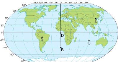 As coordenadas geográficas permitem a localização dos diferentes pontos no mapa