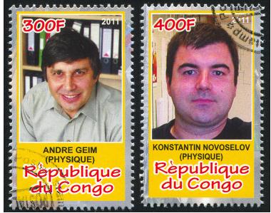 Andre Geim e Konstantin Novoselov ganharam o Prêmio Nobel de Física de 2010 pelas descobertas relacionadas com o grafeno *