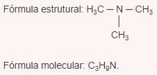 Fórmulas da trimetilamina