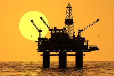 Plataforma de extração de petróleo