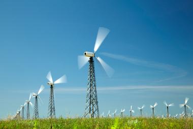 Estação de produção de energia eólica
