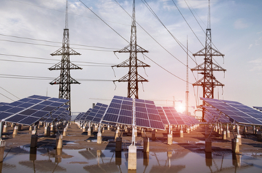 Estação de captação de energia solar