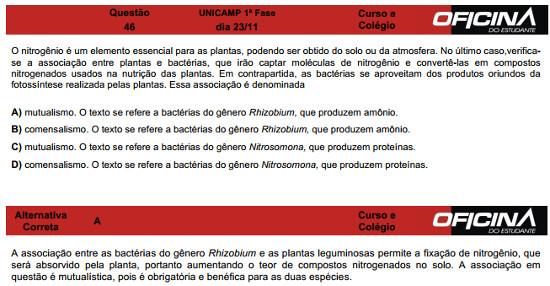 Questão 46 Unicamp 2015