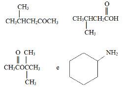 Substâncias orgânicas em exercício sobre nomenclatura IUPAC