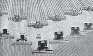 Produção agrícola mecanizada
