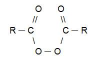 Fórmula estrutural geral de um peróxido orgânico