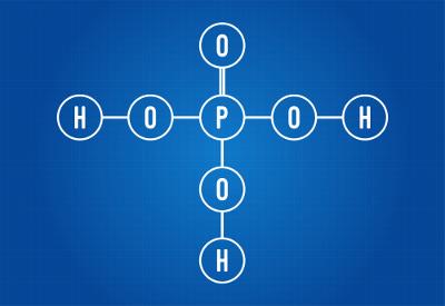 Fórmula estrutural do ácido fosfórico