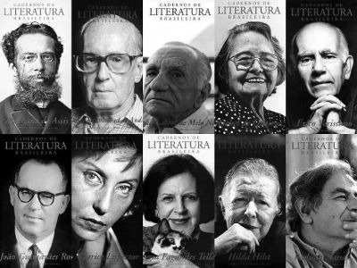 Escritores brasileiros que ilustraram a capa do periódico Cadernos de literatura brasileira, do Instituto Moreira Salles *