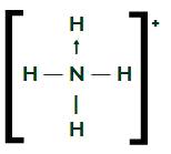 Fórmula estrutural do NH4+
