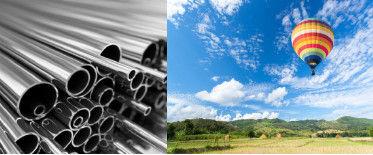 Exemplos de soluções sólida e gasosa – aço e ar