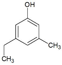 Fenol com os radicais metil e etil na sua composição