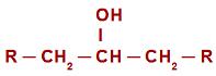 Fórmula estrutural geral de um álcool secundário