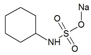 Estrutura química do Ciclamato de sódio