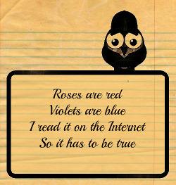 Poema com rima em inglês