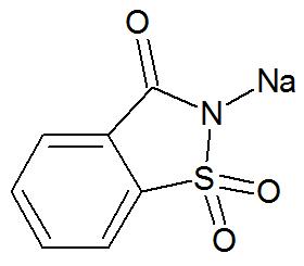 Estrutura química da Sacarina sódica