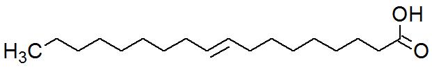 Fórmula estrutural do Ácido oleico