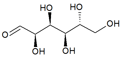 Fórmula estrutural da glicose