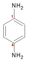 Fórmula estrutural da benzenodiamina