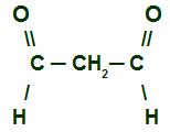 Fórmula estrutural de um aldeído que apresenta dua carbonilas