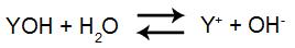 Equação de dissociação da base