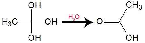 Equação de formação de ácido carboxílico