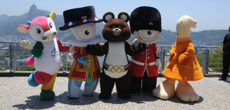 Os mascotes são criados com base nas características regionais