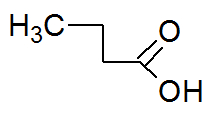 Fórmula estrutural do ácido butírico