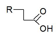 Fórmula estrutural geral de um ácido graxo