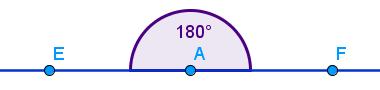 Ângulo formado por meia-volta: ângulo de 180°