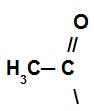 Representação do grupo acila do haleto de ácido