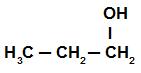 Fórmula estrutural do propan-1-ol