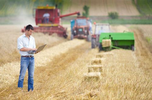 Na agricultura intensiva, há a utilização de máquinas, tecnologia e mão de obra especializada