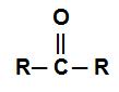 Fórmula estrutural de uma cetona