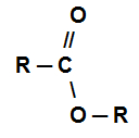 Fórmula estrutural de um éster qualquer