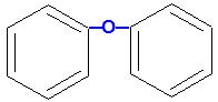 Fórmula estrutural de um aromático polinuclear de núcleos isolados