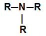 Estrutura geral de uma amina terciária