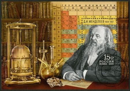 Ilustração do químico Mendeleev **
