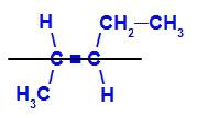 Fórmula estrutural do E- pent-2-eno