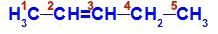 Fórmula estrutural do pent-2-eno