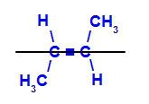 Fórmula estrutural do trans but-2-eno