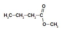 Fórmula estrutural do éster da essência de pinha