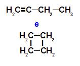 But-1-eno e o ciclobutano são isômeros de cadeia