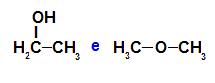 O etanol e o éter metílico são isômeros de função