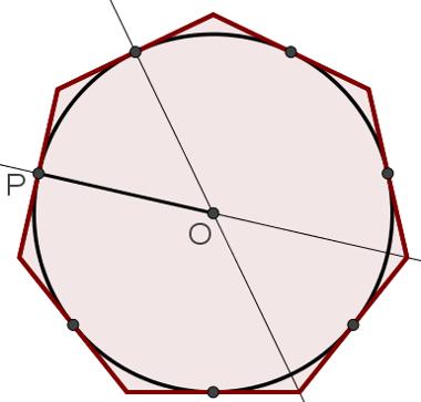 Circunferência inscrita no heptágono