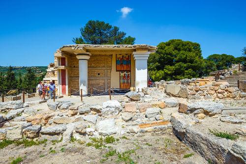 Ruínas do palácio de Cnossos, na ilha de Creta *